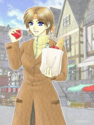 (c)天琉様//このあと林檎を握り潰します(待て//リンク先は綾瀬りく様からのいただき物//どうもありがとうございます♪